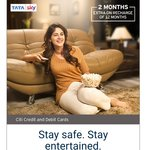 Get additional 2 months on recharge of 12 months Tata Sky account on Tata Sky website and app with Citi Cards