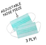 3 Ply Ear Loop Surgical Medical Anti Haze Face Mask Pack of 10