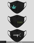 Face Weed! Distance Please! Unzip! Everyday Protective Mask - Pack of 3