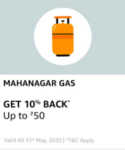 Get 10% cashback at Mahanagar Gas via Amazon Pay