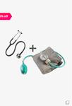 MCP Aneroid01 Sphygmomanometer BP Monitor with Stethoscope (Black/Grey)