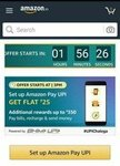 (LIVE) (user specific) Amazon flash sale on upi - Set up UPI payment & Get Rs 25