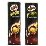 Pringles Hot Spicy Chips - 165g (Pack Of 2)