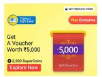 redeem 2500 supercoins get 5000 rs gv