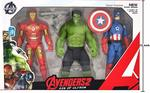 SS Agency 3 in 1 Avengers Set 12 Inch Action Figures - Captain America, Iron Man, Hulk - Avengers Toys , Age of Ultron Superhero Toy - 30 cm Tall