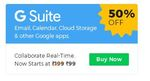 Get G Suite Flat 50% Off at Just Rs.99 Per Month