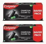 Colgate Charcoal Clean ,Bamboo Charcoal and Mint (Black Gel) Toothpaste  (480 g, Pack of 2)