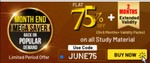 Adda247 Month End Mega SaverGet Extra 75% Off on All Study Materials+ 2 Month Extended Warranty