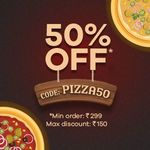 50% Off Up to Rs.150 On Pizza Order