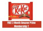 Get 3 Months Amazon Prime Membership With Kitkat Rs. 25 Pack [Till 13 September]
