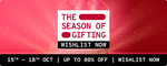 Tata CLIQ The Season of Gifting Sale | 15-18 OCT| Upto 80% Off + 10% Instant Discount on ICICI Cards