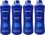 Nivea Musk Talc Skin Powder 4 Unit of 400 Grams Each
