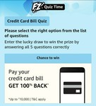 Amazon Great Indian Festival credit card bill payment quiz (25 winners)