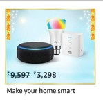 Upcoming in GIF Echo Dot (Black) bundle with Echo Flex and Wipro 9W smart bulb