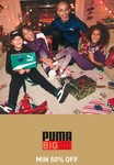 Puma Big Leap Sale [15th-19th October] Min 50% off on Men, Women & Kids Clothing & Accessories