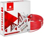 Havells Lifeline Cable WHFFDNRA12X5 2.5 sq mm Wire (Red)