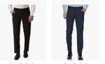 Peter England Men's Slim Fit Formal Trousers at ₹559