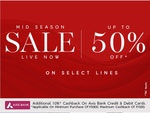 Marks & Spencer Mid Season Sale - Upto 50% Off On Selected Lines + Extra 10% Cashback through AXIS Bank Cards