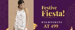 """Clovia Festive Fiesta Sale! Nightsuits At 499 - """"Weekend Only"""" + Get 3% Extra Off via Coupon"""