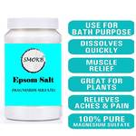 SMOKB EPSOM SALT (Magnesium Sulphate) for Relaxation Muscle Relief, Relives Aches & Pain,Plant Growth (1 KG)