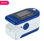 HomePro Fingertip Pulse Oximeter with OLED Display (White/Blue)