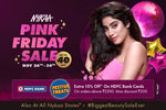 Nykaa Pink Friday Sale(26- 30 NOV) + 10% Cashback through HDFC Bank Cards