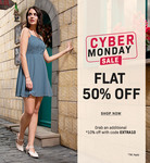 Faballey Cyber Monday Sale- Flat 50% Off + Extra 10% Off On Clothings