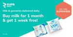 Supr Daily :- Buy Milk for 1 Month & Get 1 Week Free