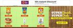 Flipkart Grocery 10% Instant Discount with IDBI Bank Credit Cards