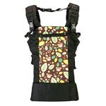 LuvLap Grand Baby Carrier  (Brown printed, Front carry facing out)