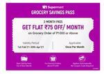 Grocery Savings Pass @ 29₹ or @1₹+28SC || Save Upto 175₹ per month