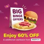 Swiggy Big Binge Offer - Get Flat 60% Off On Selected Restaurant