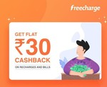 User Specific FreeCharge Get 100% upto 30 cashback on recharge/bill payment