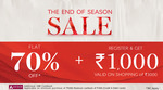 Marks & Spencers EOSS | Flat 70 % Off +Rs. 1000 off on Rs. 3000 for New user Additional 10% Cashback Via Axis Bank Cards