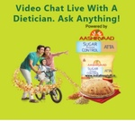 Free Dietician Appointment sponsored by Aashirvaad Sugar Release Control Atta