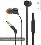 Refurbished -Superb ( Jbl T160  Wired Headset With Mic)