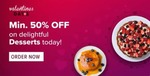 Swiggy Valentines Days - Min 50% off on Desserts/Pizza - location specific