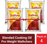 Saffola Active Blended Oil Pouch  (4 x 1 L) for Rs.551