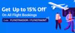 Get upto 15% off on Flight Booking on Flipkart using Kotak Cards