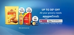 Amazon Fresh - Up to 30% OFF + Axis Bank Offer on All Your Grocery Needs