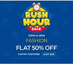 Firstcry Rush Hour Sale Fashion Flat 50% Off   Coupon - RUSHFEB50.   12PM-6PM only