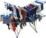 TNC Steel Floor Cloth Dryer Stand new jumbo blue butterfly  (2 Tier)