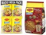 Maggi 2-Minute Noodles Masala, 70g (Pack of 12) + Maggi 2-Minute Special Masala Instant Noodles, 70g (Pack of 12)