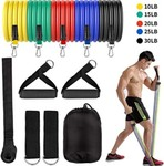 latex Resistance Bands 11pcs Set Tubes for Fitness Home Gym Exercise Workout Resistance Tube  (Multicolor)