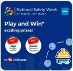 MyJio National Safety Week Quiz (NewGame) : Win 500rs JioMart Bal, 10%coupon code