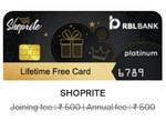 RBL Shoprite credit card Lifetime free *limited