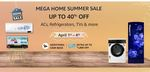 Last Day - Mega Home Summer Sale Up To 40% Off On AC, Refrigerator, TVs and More + upto Rs 2500 on HDFC Bank Cards and EMI