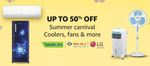 Summer Carnival Up To 50% Off Coolers, Fans & More + Up to 25% off + Additional Discount with Coupons On Some