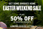 The Body Shop Easter Weekend Sale Flat 50% Off On Selected Product