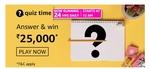 Amazon Quiz Answers for 3rd Apr'21 – Win ₹ 25,000 Amazon Pay Balance : 2 Winners
